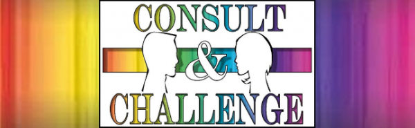 Consult and Challenge logo;C