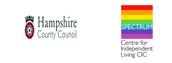 Hampshire County Council and SPECTRUM logos
